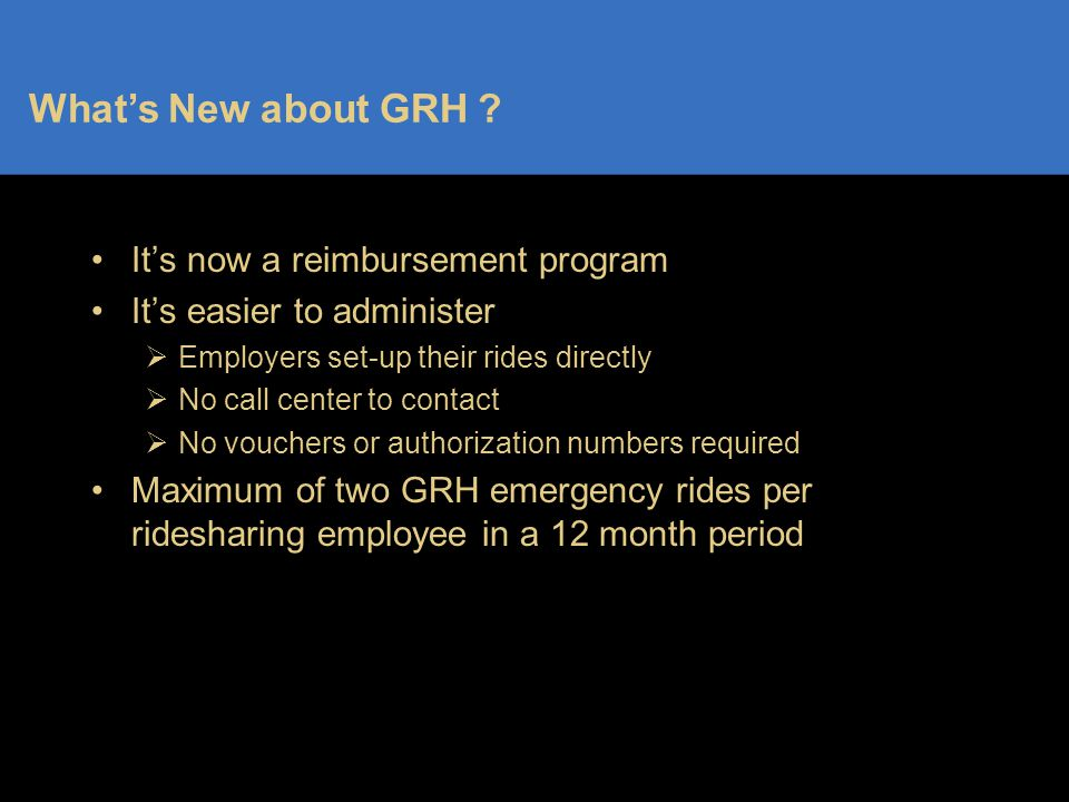 What's New about GRH .