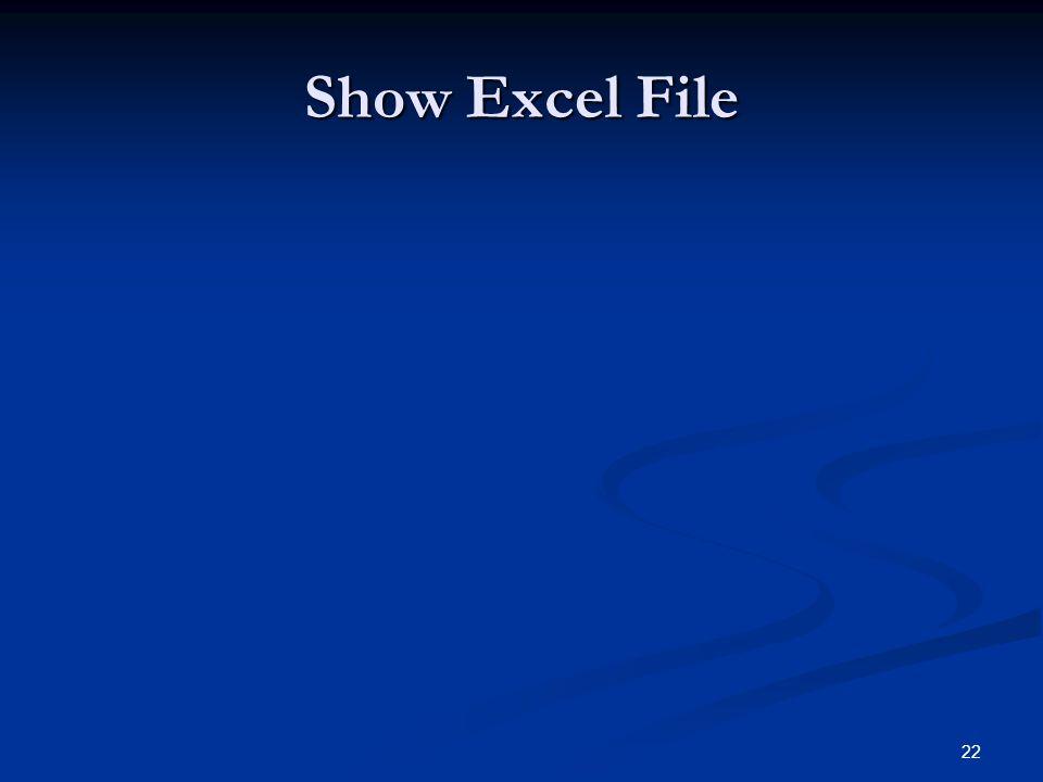 22 Show Excel File
