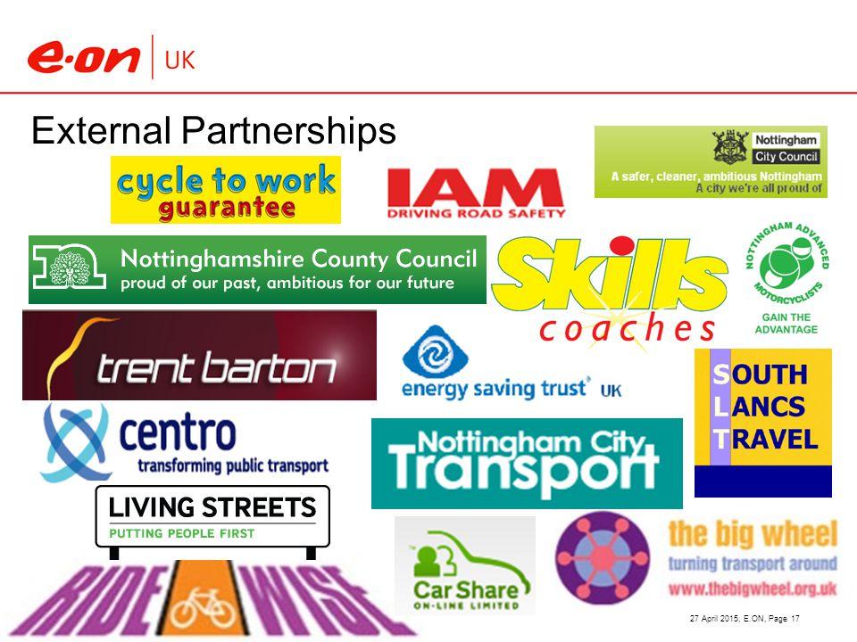 External Partnerships 27 April 2015, E.ON, Page 17
