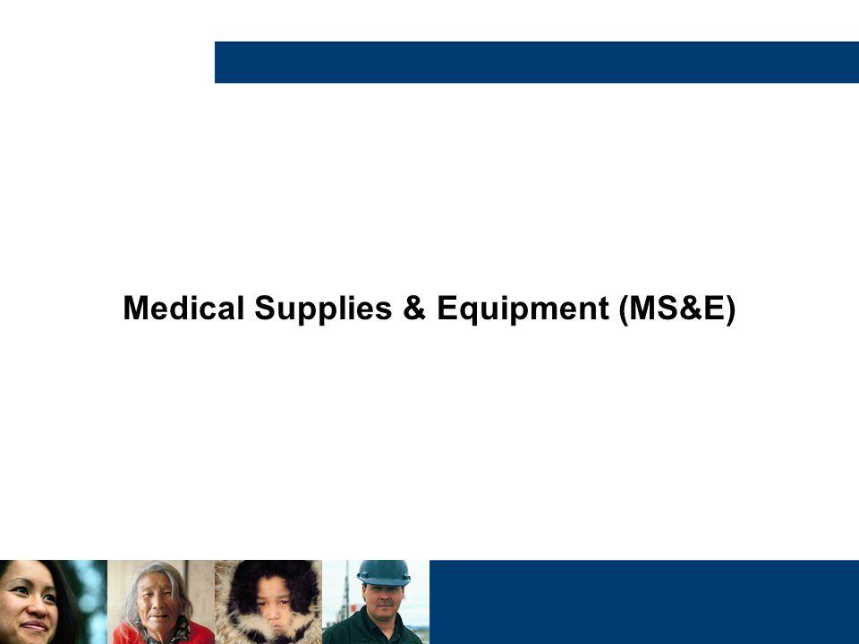 Medical Supplies & Equipment (MS&E)