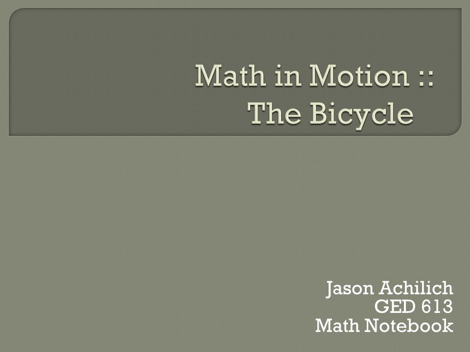 Jason Achilich GED 613 Math Notebook