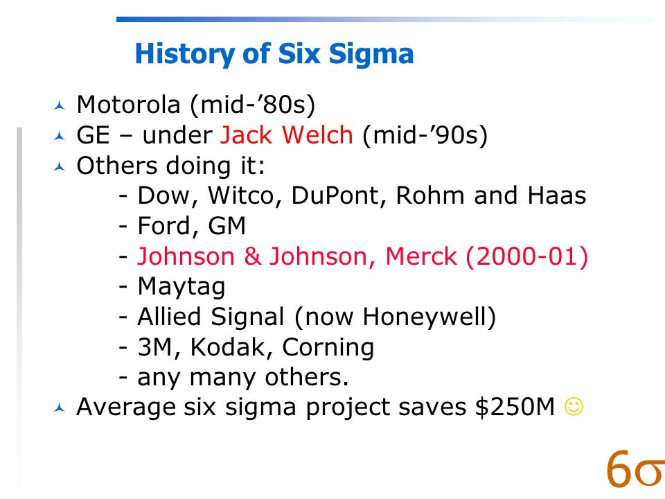  6 What is Six Sigma.