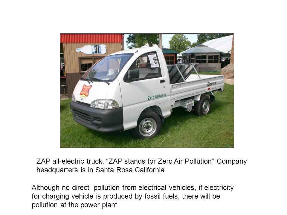 ZAP all-electric truck.
