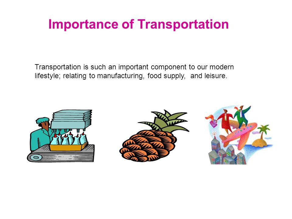 Major Types of Transportation Considered Automobile Truck RailShip Plane