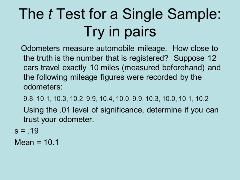 The t Test for Independent Samples: An Example Calculate the test statistic.