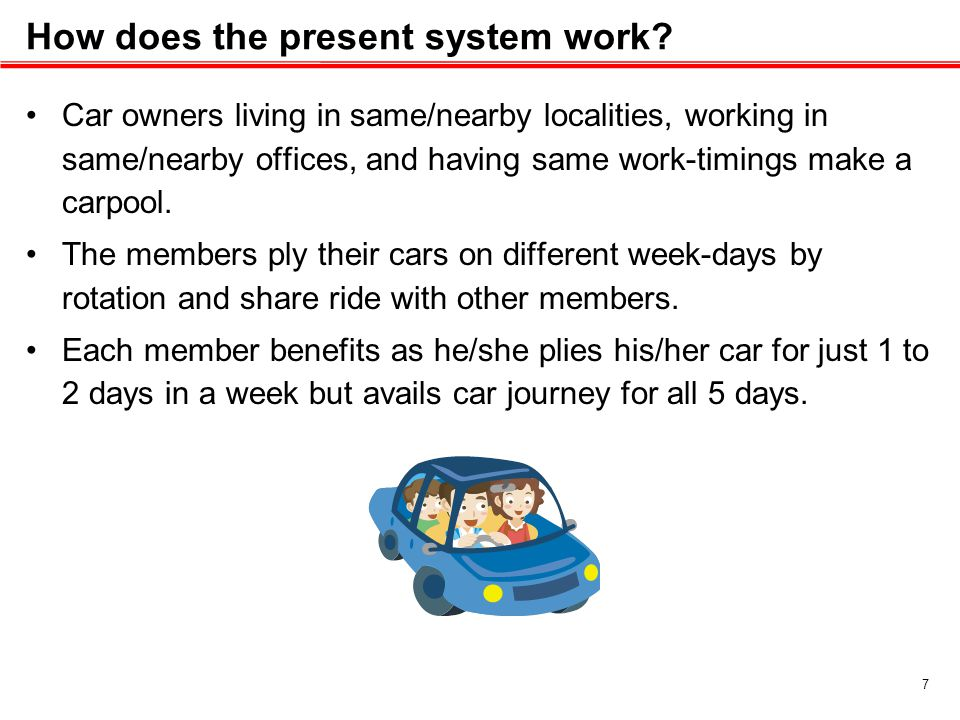 How does the present system work.