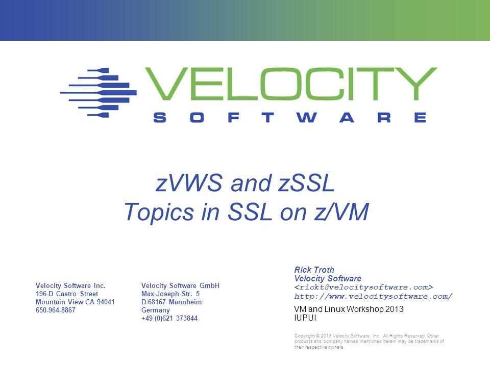 Velocity Software Inc.