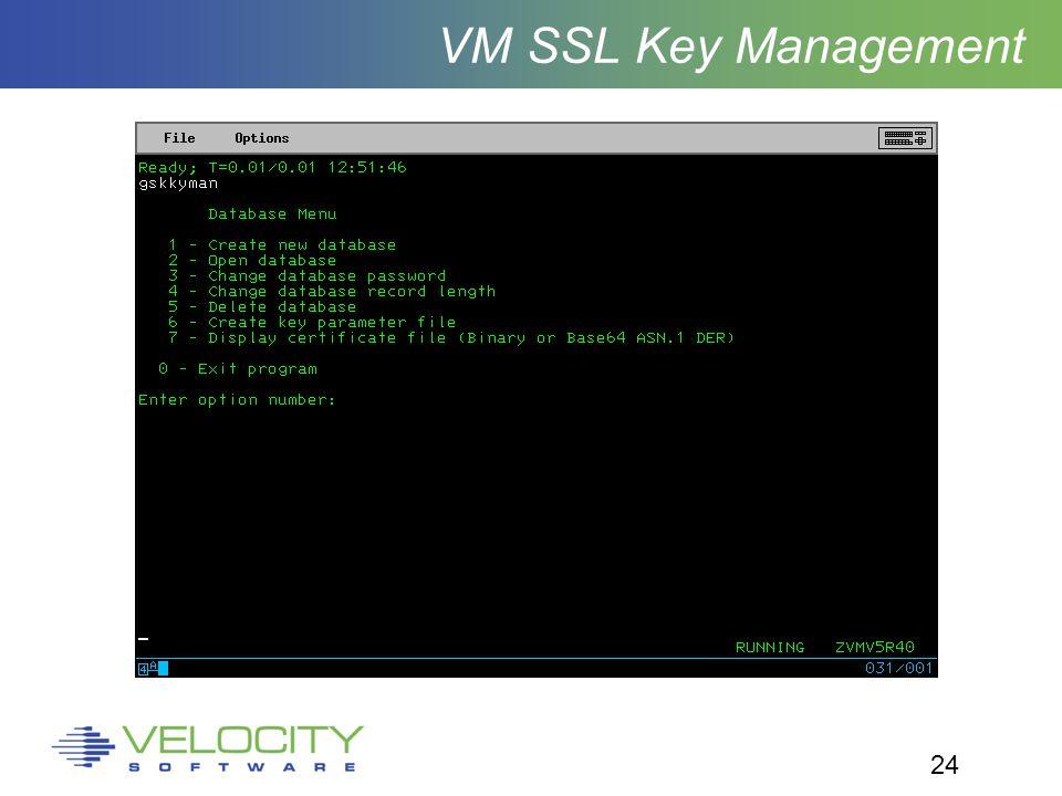 24 VM SSL Key Management