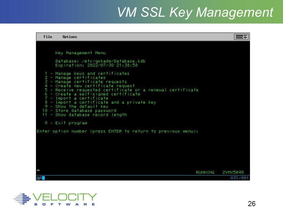 26 VM SSL Key Management