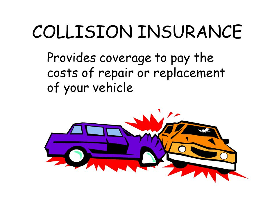 COLLISION INSURANCE Provides coverage to pay the costs of repair or replacement of your vehicle