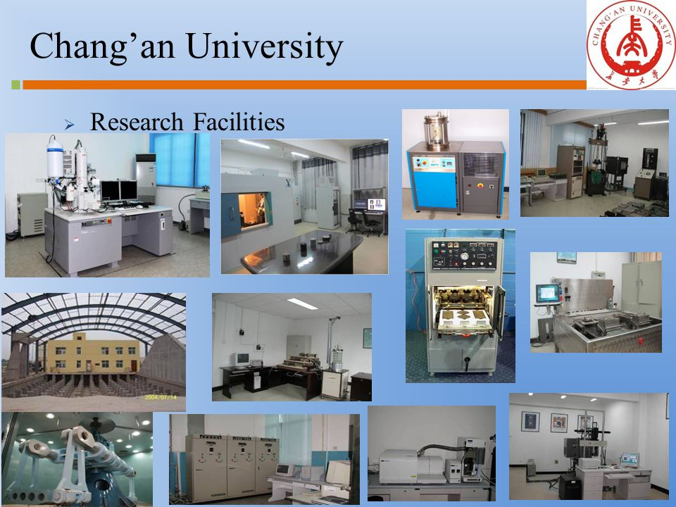 6 Chang'an University  Research Facilities