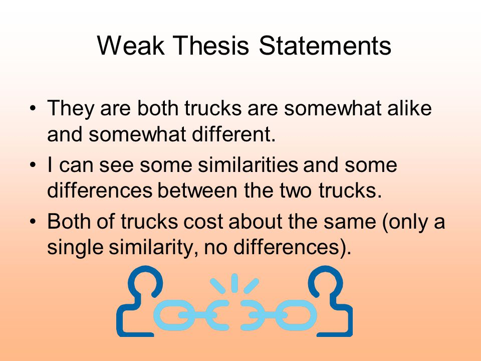 Sample Thesis Statement for Chevy vs.