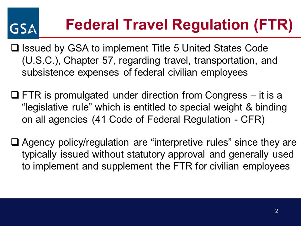 23 FTR - Lodging Taxes Lodging Taxes  Lodging taxes are reimbursable as a miscellaneous expense for CONUS / non-foreign areas  Separate claims for lodging taxes incurred in foreign areas are not allowed  Exemptions from taxes for Federal travelers, and the forms required to claim them vary from location to location  Web site: www.gsa.gov/smartpay