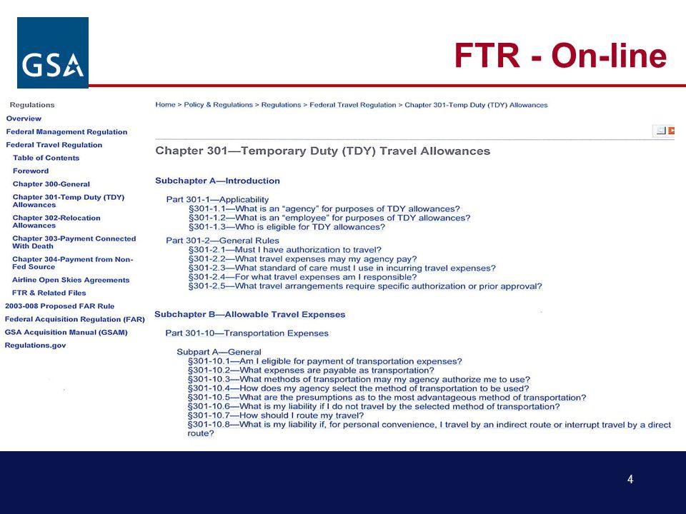 4 FTR - On-line