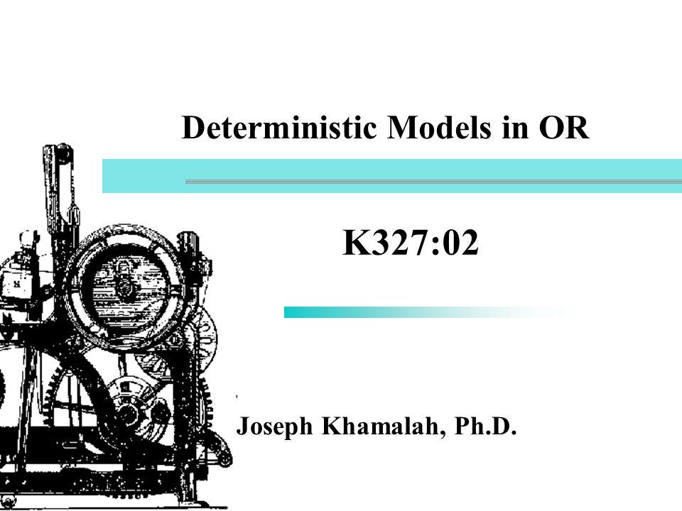 32 Quantitative Methods in Practice n Linear Programming n Integer Linear Programming n PERT/CPM n Inventory models n Waiting Line Models n Simulation n Decision Analysis n Goal Programming n Analytic Hierarchy Process n Forecasting n Markov-Process Models