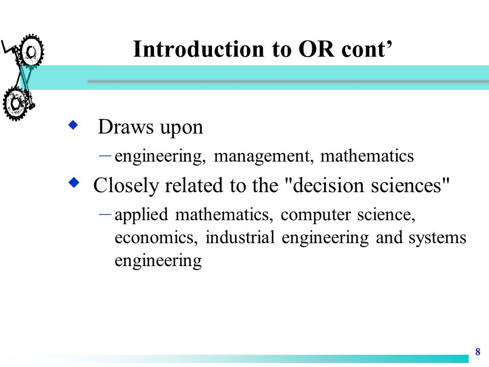 19 Mathematical Models  Cost/benefit considerations must be made in selecting an appropriate mathematical model.