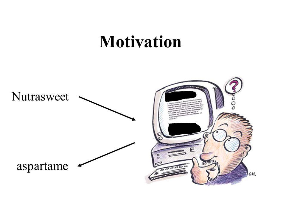 Motivation Nutrasweet aspartame