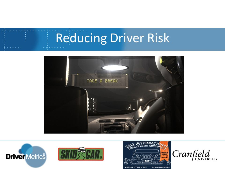 Driver Risk Index™ Profile Example Report Driver Risk Index™ Profile Report (A) (C) Behavioural Risk Factors (B)