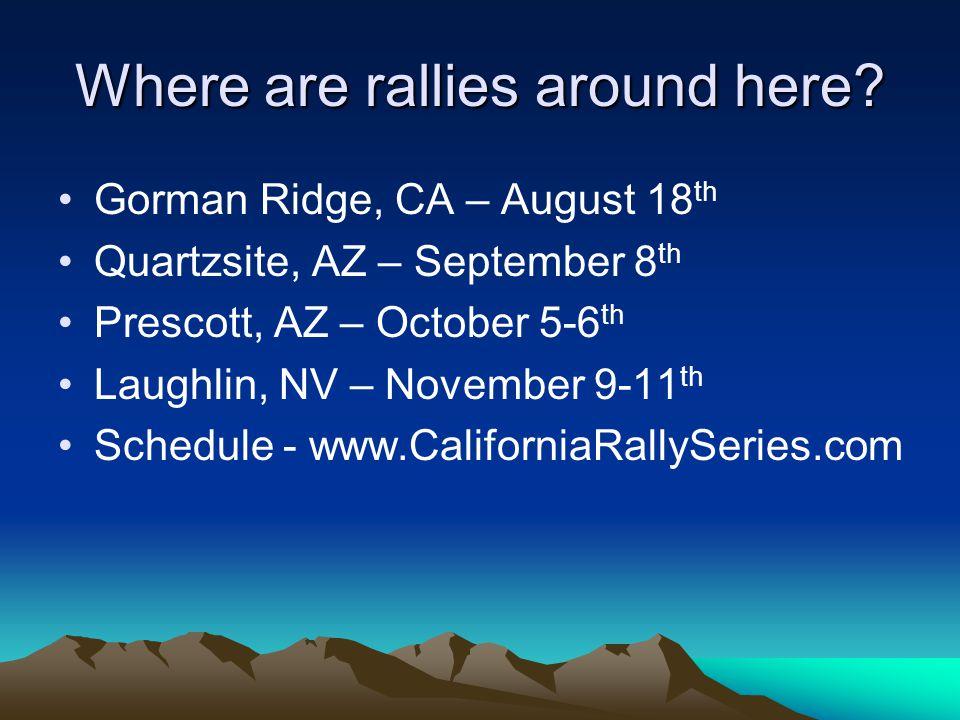 Where are rallies around here.