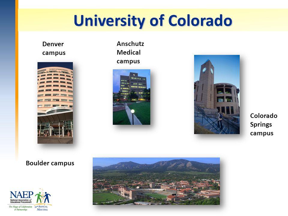 University of Colorado Denver campus Anschutz Medical campus Colorado Springs campus Boulder campus