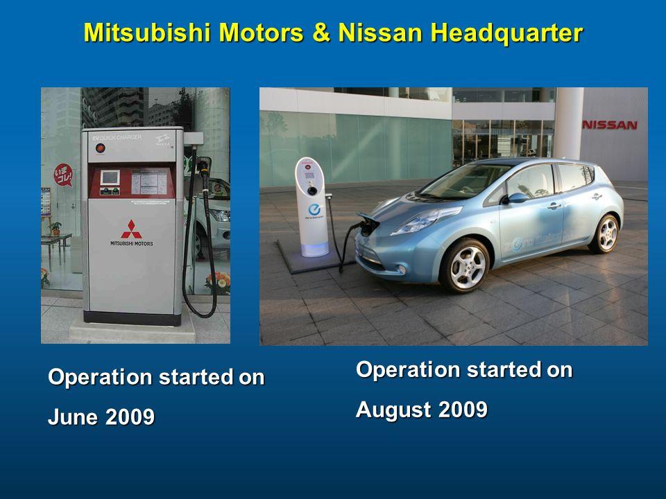 Mitsubishi Motors & Nissan Headquarter Operation started on June 2009 Operation started on August 2009