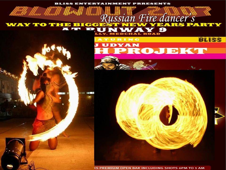 Russian Fire dancer's