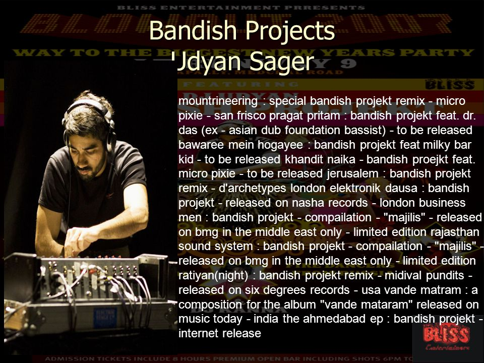 Bandish Projects Udyan Sager mountrineering : special bandish projekt remix - micro pixie - san frisco pragat pritam : bandish projekt feat.