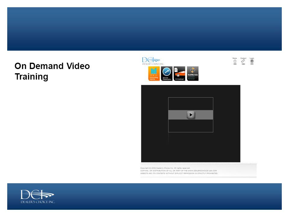 On Demand Video Training