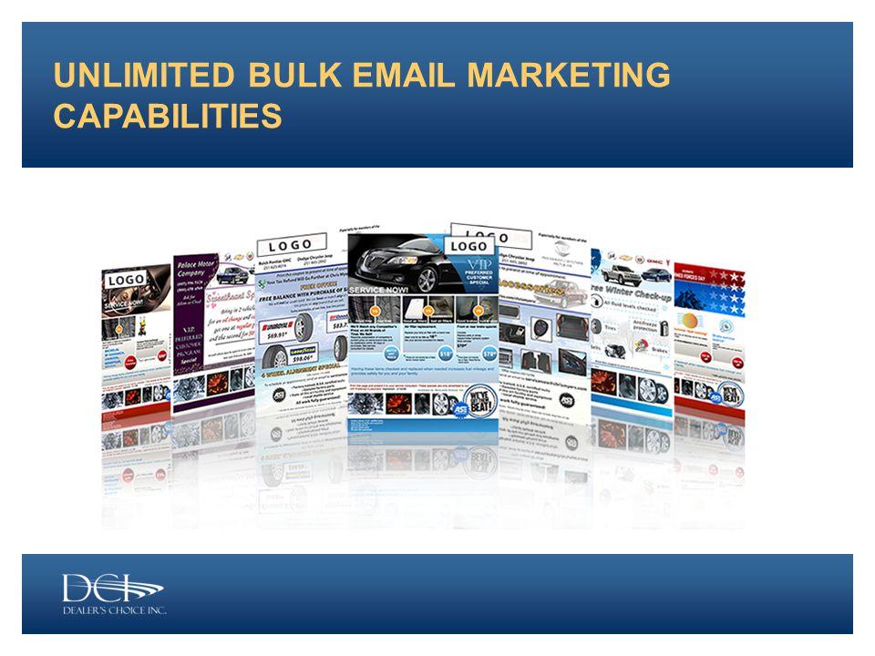UNLIMITED BULK EMAIL MARKETING CAPABILITIES