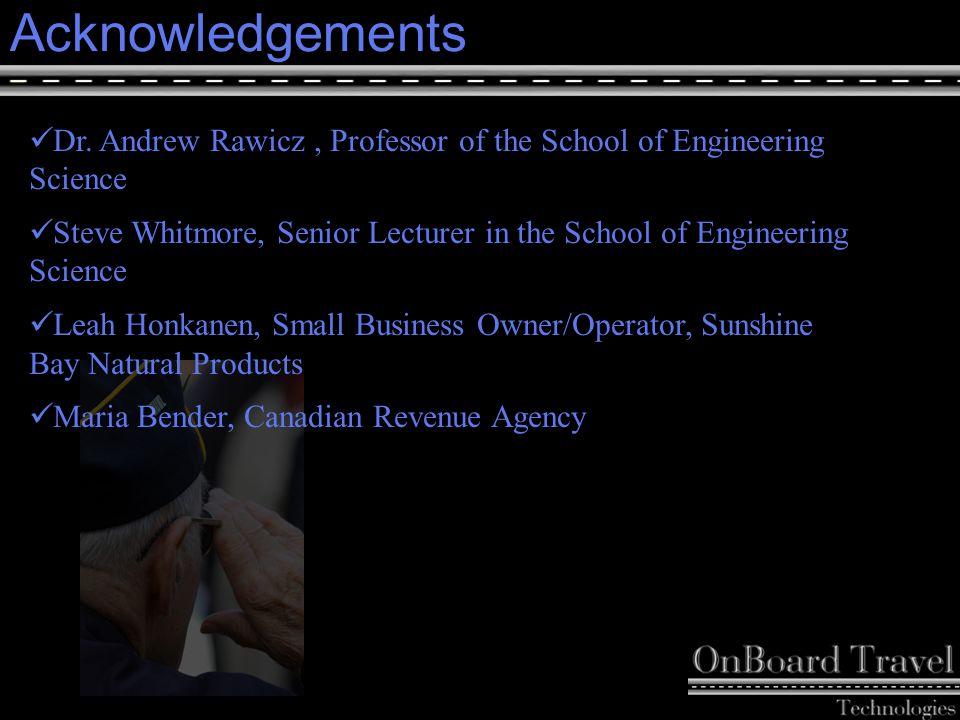 26 Acknowledgements Dr.