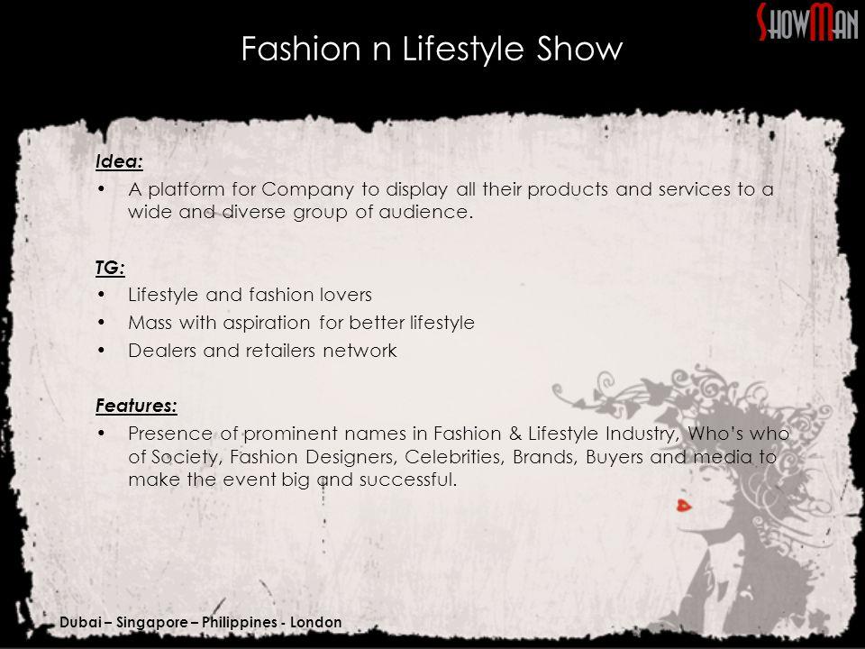 Dubai – Singapore – Philippines - London Title Sponsor Participation Category