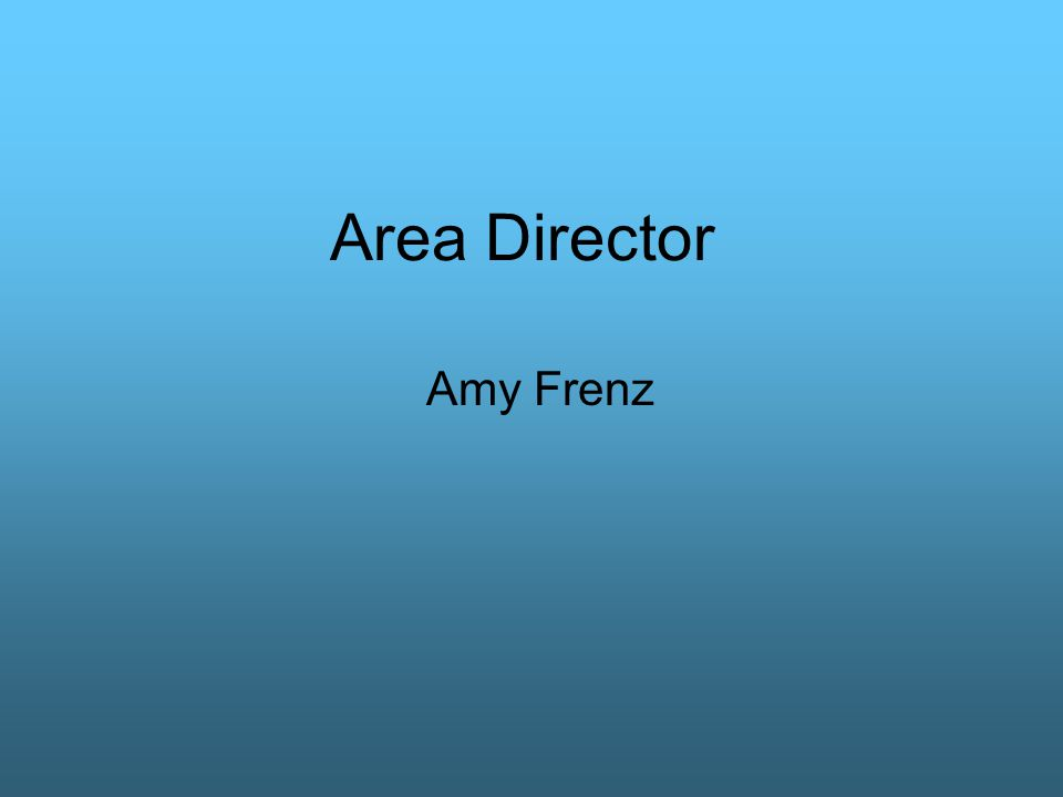 Area Director Amy Frenz