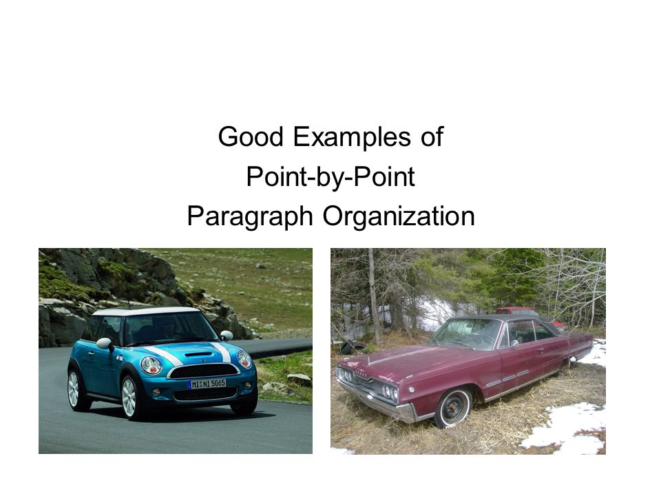 Good Examples of Point-by-Point Paragraph Organization