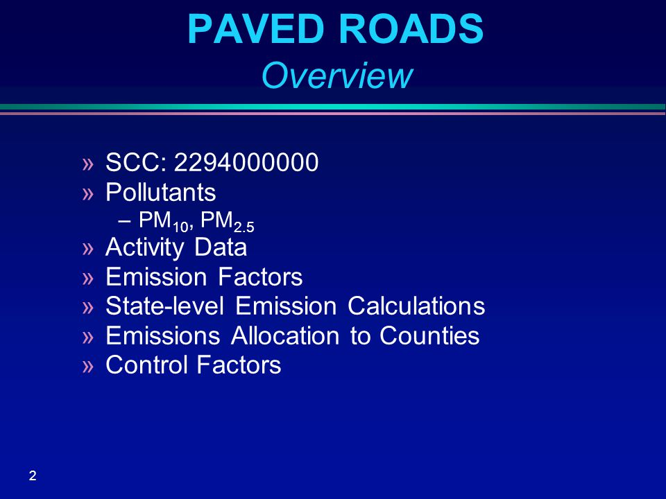 13 UNPAVED ROADS NEI Method  Activity »State level VMT from U.S.