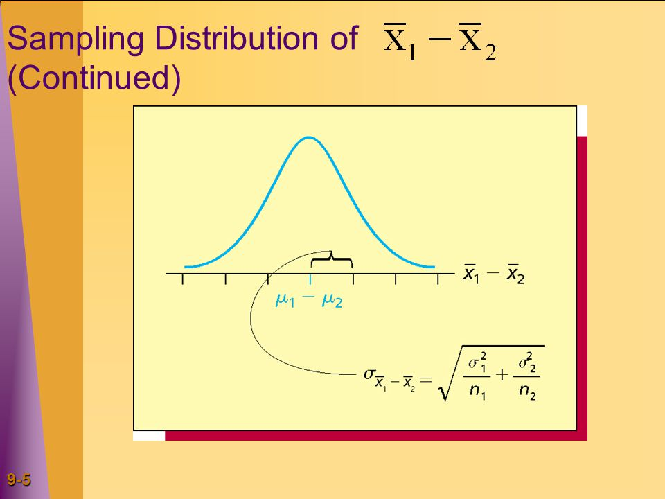 9-5 Sampling Distribution of (Continued)