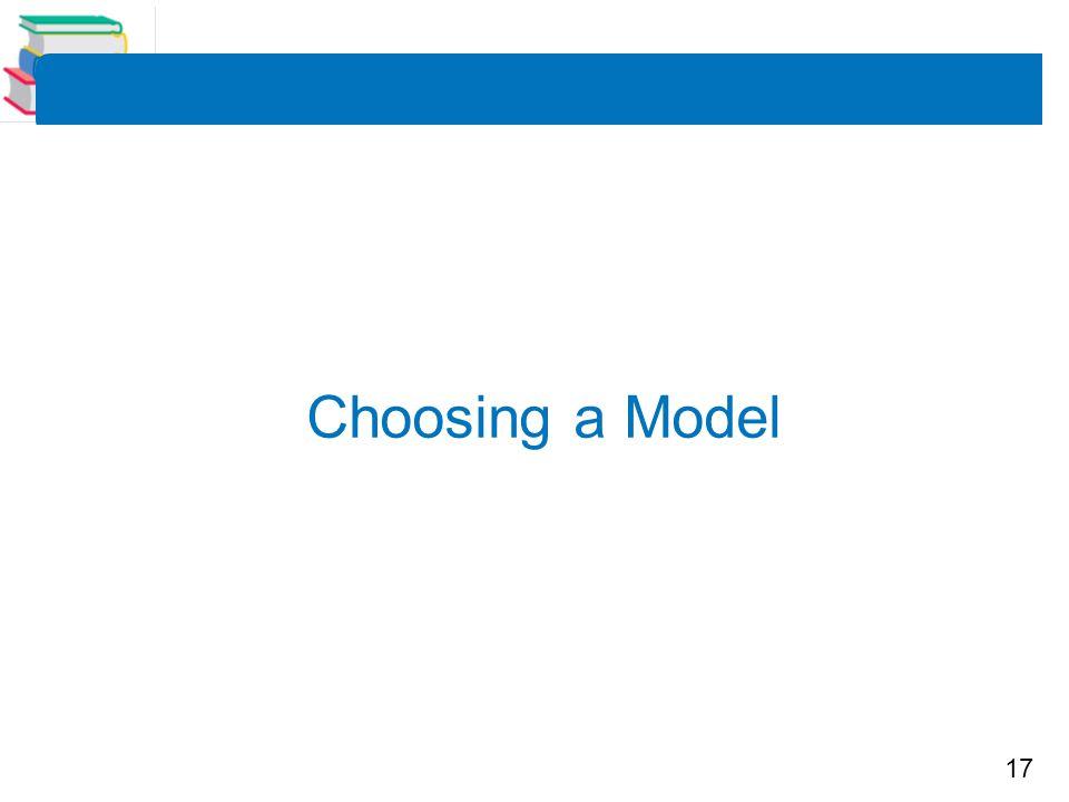 17 Choosing a Model