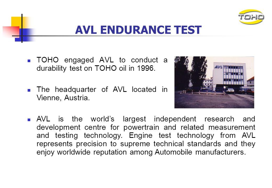 AVL ENDURANCE TEST REPORT