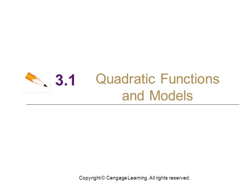 13 Maximum and Minimum Values of Quadratic Functions