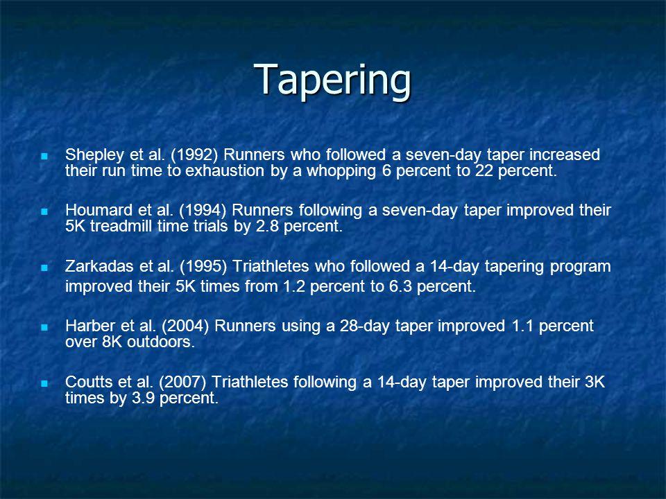 Tapering Shepley et al.