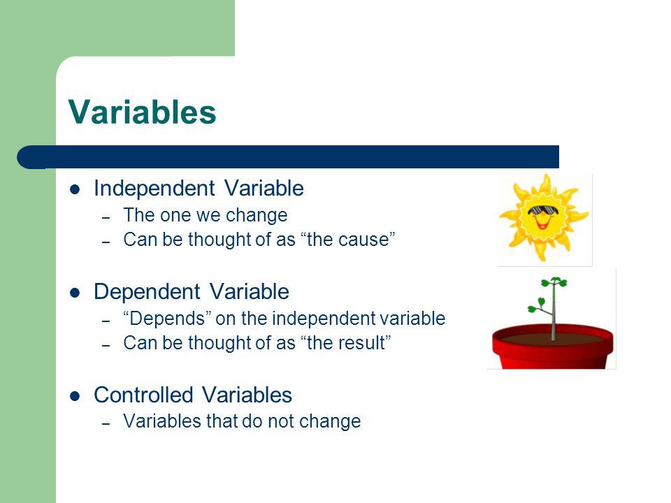 Variables Cont.