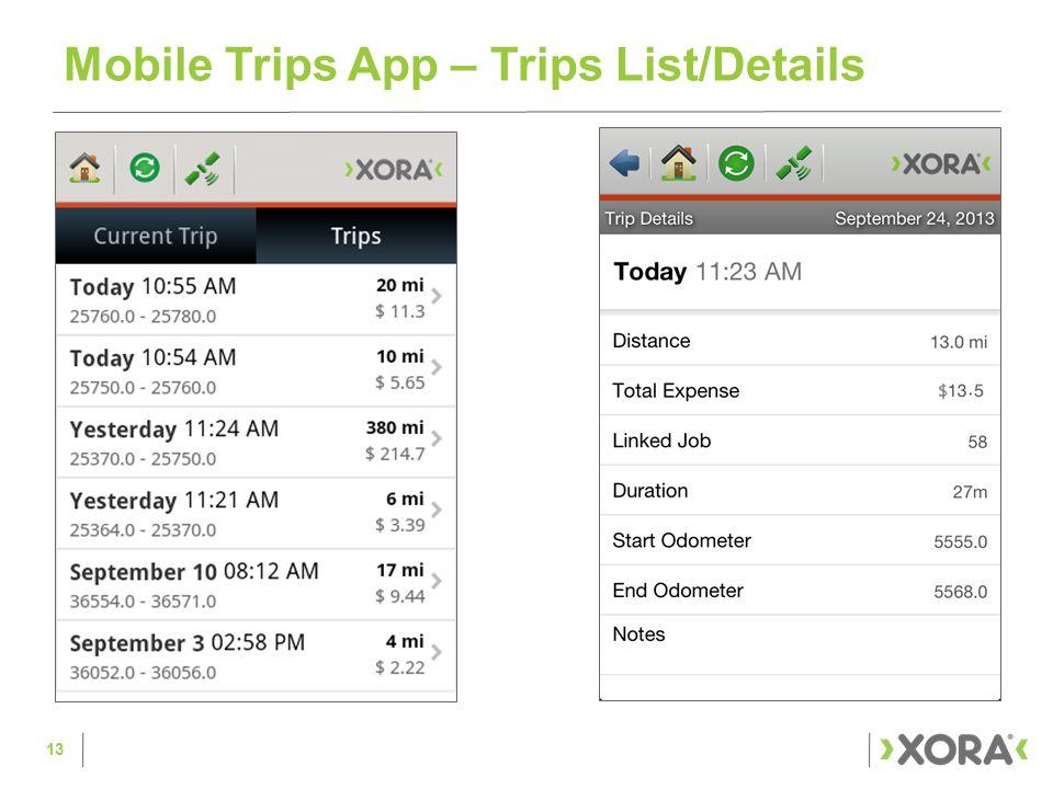 Mobile Trips App – Trips List/Details 13