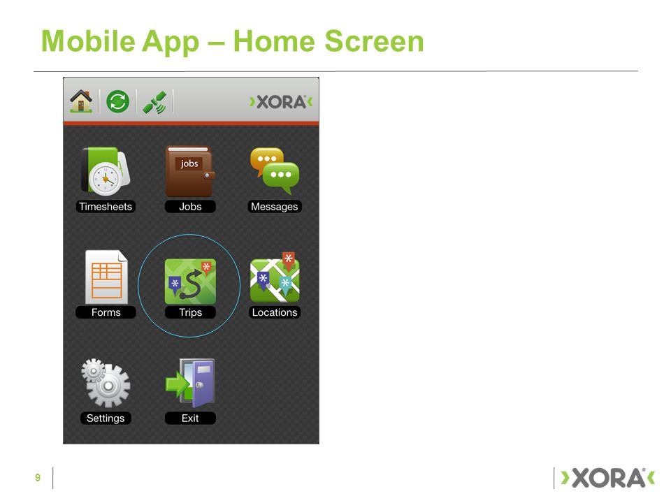 Mobile App – Home Screen 9
