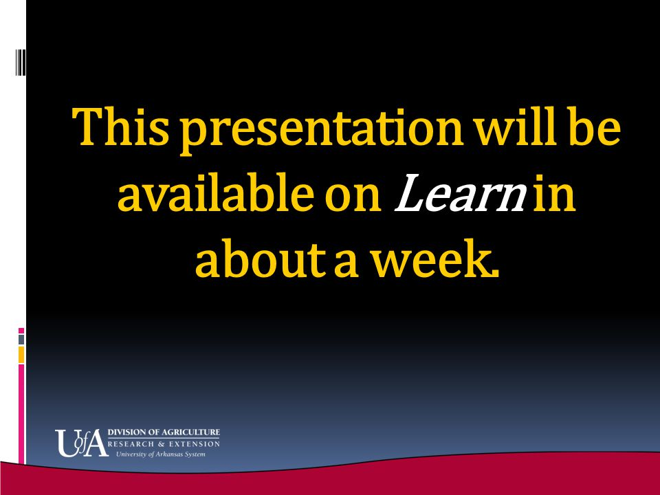 This presentation will be available on Learn in about a week.