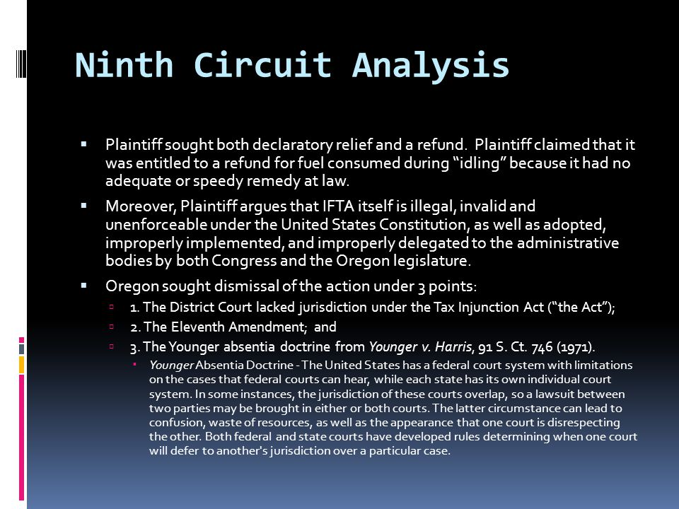 Ninth Circuit Analysis  Plaintiff sought both declaratory relief and a refund.