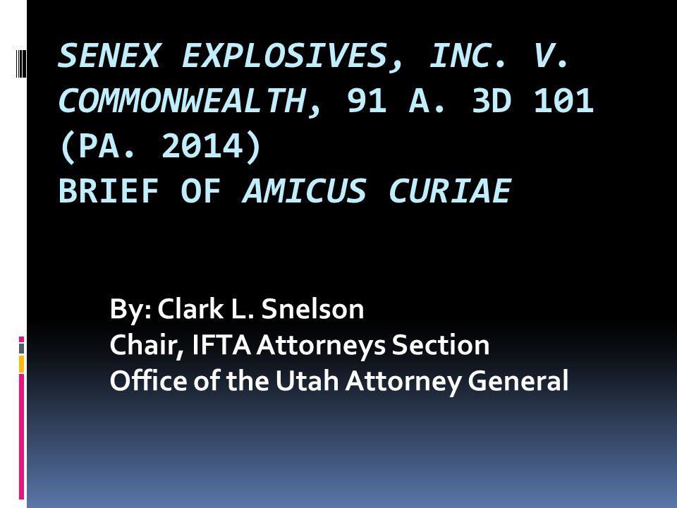 SENEX EXPLOSIVES, INC. V. COMMONWEALTH, 91 A. 3D 101 (PA.