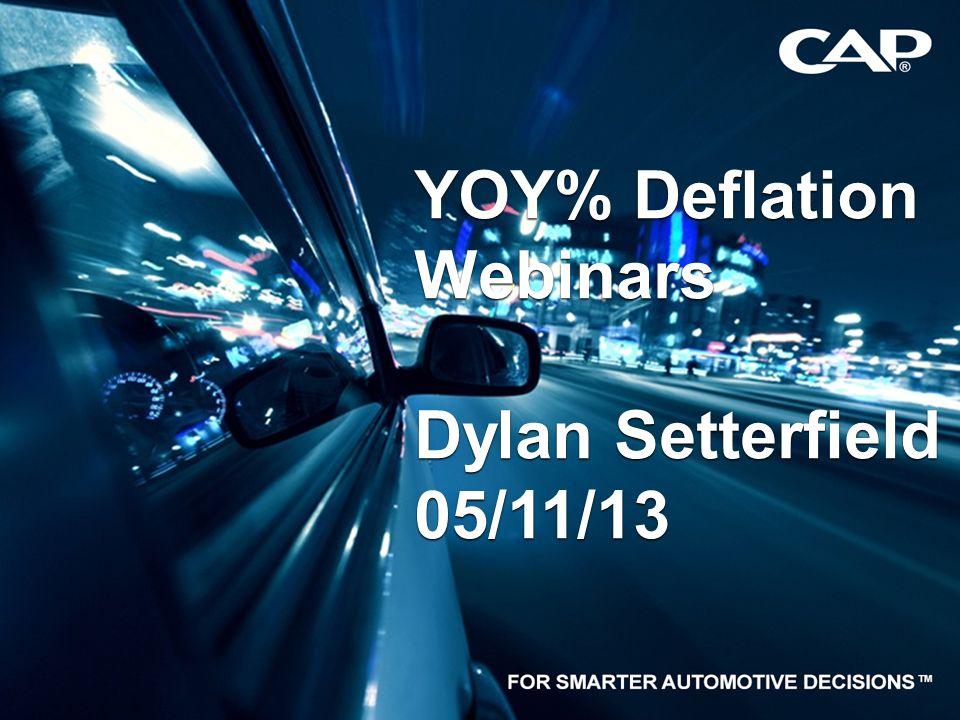 1 YOY% Deflation Webinars Dylan Setterfield 05/11/13 YOY% Deflation Webinars Dylan Setterfield 05/11/13