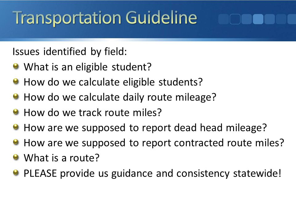 This was NOT a fishing expedition! This guideline was directly requested by the field.