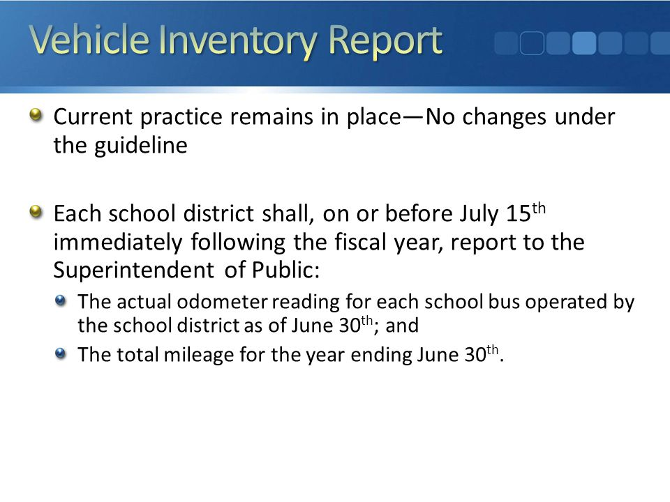 Transportation Route Report A.R.S.