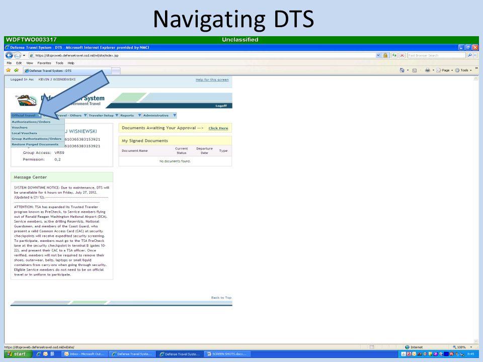 Navigating DTS