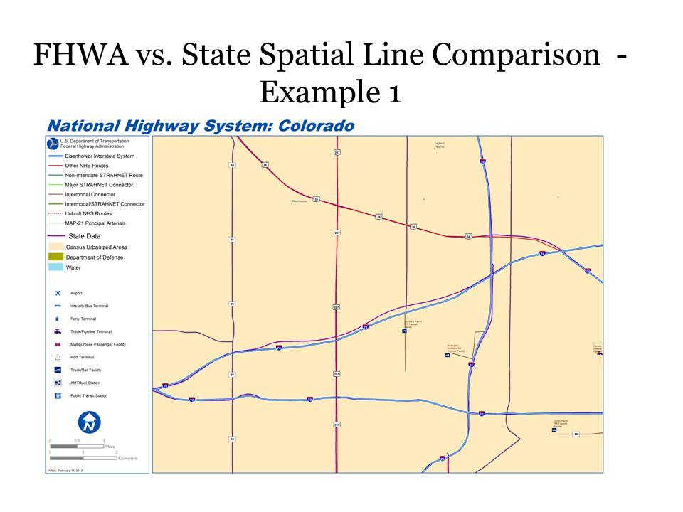 FHWA vs. State Spatial Line Comparison - Example 1
